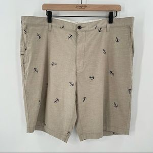 Men's DOCKERS Shorts - Beige with Anchors